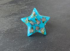 Blue Star Ring Real Flowers Resin Jewelry by JustKJewellery, £10.00
