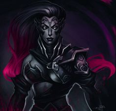 Annual drawing of a woman check✓. Unless I draw more Fury. lol I like this dark magenta color.