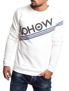 MEN'S CLOTHING | NOHOW LOGO SWEATSHIRT IN WHITE | COTTON | NOHOW
