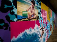 Seaside NJ mural on the boardwalk