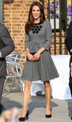 kate middleton grey dress - Google Search