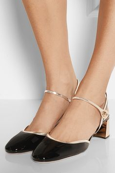 Miu Miu | Patent-leather pumps | NET-A-PORTER.COM