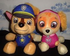 Paw Patrol Lot of 2 Stuffed Animals Plushie Plush