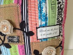 Pillow Colorful Fabric Scraps by MelonyBradley on Etsy, $40.00