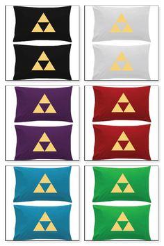 Legend of Zelda Triforce 2 Pillow cases Nintendo Wii U 3DS by Joeto13 on Etsy https://www.etsy.com/listing/262915776/legend-of-zelda-triforce-2-pillow-cases
