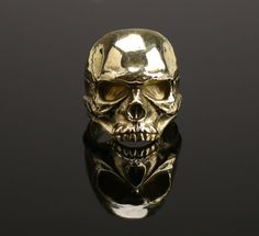 Bronze Сranium Skull Ring bague bronze tête cuir par ThorForge