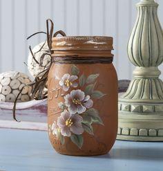 Donna Dewberry uses FolkArt Chalk on a Mason Jar