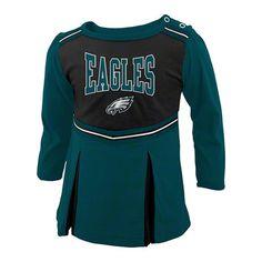 Eagles Infant Cheerleader Creeper Dress $29.99