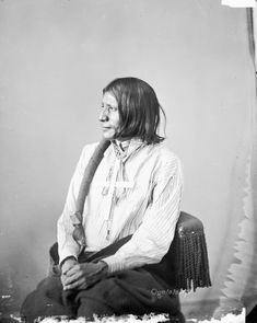 Old Photos - Oglala | www.American-Tribes.com    Hard Heart - Oglala - 1872