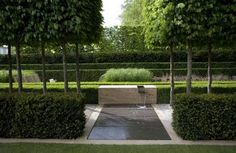 Not strictly a parterre but same pattern making process and use of solid and void. - by Luciano Giubbilei Formal Gardens, Small Gardens, Outdoor Gardens, Modern Landscaping, Outdoor Landscaping, Contemporary Landscape, Landscape Design, Laurel Hedge, Classic Garden