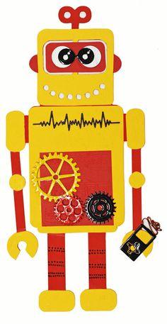 Design Your Own Robot via @Ben Franklin Crafts & Frame Shop