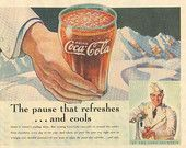 """1937 Coca~Cola """"At The Soda Fountain~The Pause That Refreshes And Cools"""" Vintage Ad """"Must See!"""""""