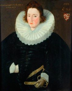 "Posthumous portrait of ""Sir Arthur Slingsby's son (aged 24 years) who died of fever in 1588"" - dated 1588; Mercer Art Gallery"