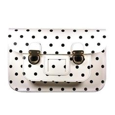 STELLA RITTWAGEN - Bolso Satchel Leather Satchel, Satchel Bag, Black Dots, Polka Dots, My Style, Pattern, Pin Wheels, Collection, White Handbag