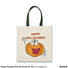 Happy Pumpkin Day Greetings for Halloween