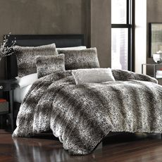 Ummm...yes pleasesounds so comfy!  Persian Leopard Faux-Fur Twin Duvet Cover - Bed Bath & Beyond