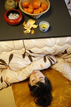 #kotatsu #japan #mikaKotatsu is a heater table to sit around in the winter. You don't actually sleep under it. My daughter also like to fall asleep under it when she was young. VVA
