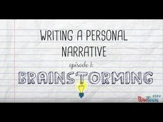Writing a Personal Narrative- 8 videos to lead students through the writing process; brainstorming all the way to publishing!