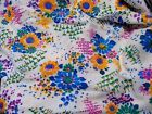 """Vintage Bright Floral Acrylic Terrycloth Tablecloth Home Decor Fabric 54""""x 100"""" - #floral, #home, Acrylic, Bright, décor, fabric, tablecloth, terrycloth, vintage"""