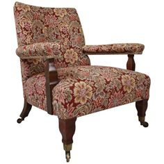 Antique William Morris 'Connaught' Armchair by George Jack | From a unique collection of antique and modern armchairs at https://www.1stdibs.com/furniture/seating/armchairs/