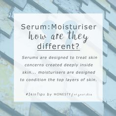 Serums and moisturisers – which do you use? Do you know the difference? Sure a serum is light weight and a moisturiser is richer, but what is the true difference to your skin? Can you use serum without moisturiser (if you have you should read this article!)… can you skip serum and use only moisturiser? Read on to learn all…