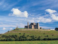 The Rock of Cashel in Ireland as seen from afar