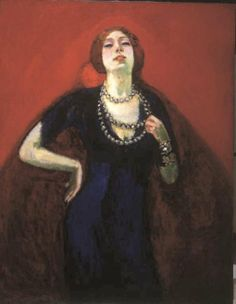 Portrait of Guus Preitinger, the Artist's Wife - Kees van Dongen