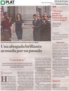 FOX Networks Group: Estreno de Conviction en el suplemento Luces del diario El Comercio de Perú (04/10/16)