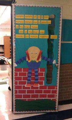 Humpty Dumpty & My creative fall classroom door design for our school devorsting ...