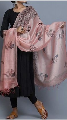 A Plain Suit to match an Extravagant Dupatta