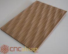 Ahşap-MDF Dekoratif Dalga Desen Paneller | Wooden-MDF Decorative Wave Pattern Panels Brick Cladding, Wave Pattern, Butcher Block Cutting Board, Waves, Furniture, Decor, Decoration, Home Furnishings, Ocean Waves