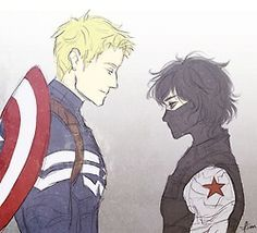 Jason as Captain America and Nico as the Winter Solider
