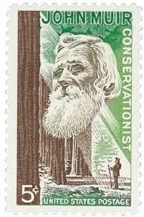 1964 5c John Muir - Catalog # 1245 For Sale at Mystic Stamp Company