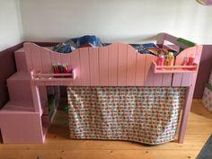 Verkaufe ein selbstgebautes Kinderbett mit integriertem Ikea Trofast Regal incl. Boxen. Das Bett...,Kinderbett Hochbett Trofast Unikat in Schleswig-Holstein - Kletkamp