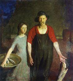 fisherman and his daughter, Charles Hawthorne