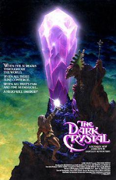 The Dark Crystal movie poster Geek Movies, 80s Movies, Film Movie, Epic Film, Epic Movie, Indie Movies, Comedy Movies, Dark Crystal Movie, The Dark Crystal