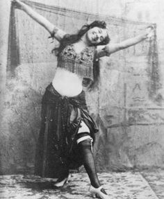 "1896, a woman named Ashea Waba,AKA, Little Egypt,was invited to dance at a party at Sherry's club in Midtown.Edwardians were shocked by the sexy dance,the dance was called the Hootchy-Kootchy.Normally the Hootchy-Kootchy was performed in belly-bearing skirts or pantaloons. Ashea was arrested. After a trial she was cleared of violating any vice laws.Little Egypt launched a troupe of Hootchy-Kootchy dancers making $500 a night.She died in her West 37th St. apt. in 1908 of ""gas asphyxiation."""