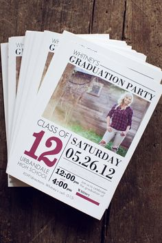 Senior Graduation Announcement Template by Jamie Schultz Designs