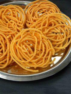 Nitha Kitchen: Pottukadalai Murukku (Dalia Chakli) Using Rice Batter with Video Dry Snacks, Savory Snacks, Snack Recipes, Cooking Recipes, Delicious Recipes, Cooking Tips, Breakfast Recipes, Diwali Snacks, Diwali Food
