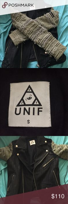Unif Moro jacket size small Bought this jacket was too small no trades UNIF Jackets & Coats