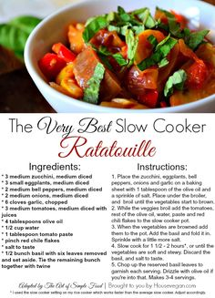 Housevegan.com: The Best Ever Slow Cooker Ratatouille!