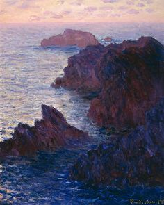 Rocks At Bell Ile by Claude Monet