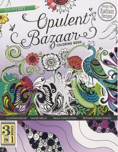 Opulent Bazaar Coloring Book - 3 Books In One