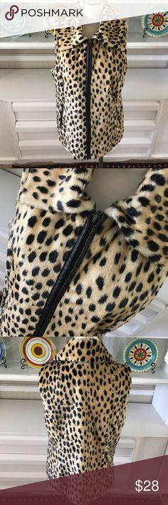 """Alfani faux fur vest Excellent condition, faux fur and faux leather trim!  Measures 26"""" long and 19"""" armpit to armpit approximately Alfani Jackets & Coats Vests"""