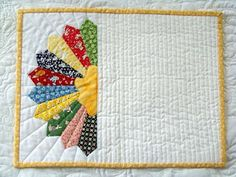 Attic Window Quilt Shop: MAKE COLORFUL PLACE MATS! Use a dresden plate for a placemat or a mug rug