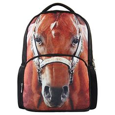 53662c2085 Horse Backpacks for School that Girls with Love Horse Backpack