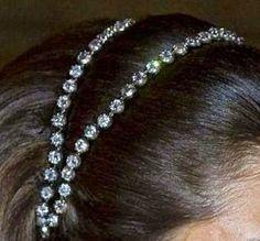 The Royal Order of Sartorial Splendor: Tiara Thursday: The Swedish Diamond Bandeau Royal Crowns, Royal Tiaras, Tiaras And Crowns, Princess Victoria Of Sweden, Crown Princess Victoria, Royal Jewelry, Gothic Jewelry, Jewellery, Invisible Crown