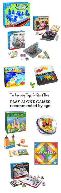 Top learning toys for quiet time: play alone games - love that my kids are building brainpower with these while I get stuff done or have one-on-one time with their sibling. Quiet Time Activities, Toddler Activities, Baby Toys, Kids Toys, Alone Game, Learning Toys, Creative Kids, Getting Things Done, Gifts For Boys