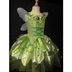 KIDS size awesome tinkerbell style fairy costume with 3-d de ...
