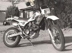 White Kawasaki KLR600. Had one like this, an Italian import. Had to rebuild the…